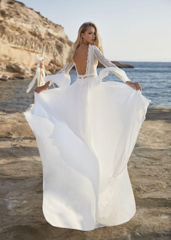 Brautkleid Mein und Fein Herve Paris Vendome Back 003 scaled